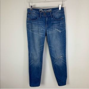 Madewell Distressed Ripped Jeans with Knee Hole 27